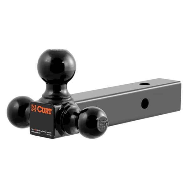 "CURT® - Multi-Ball Mount for 2"" Receivers with 3 Black Balls, Solid Shank"