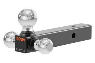 "CURT® - Multi-Ball Mount for 2"" Receivers with 3 Chrome Balls, Solid Shank"