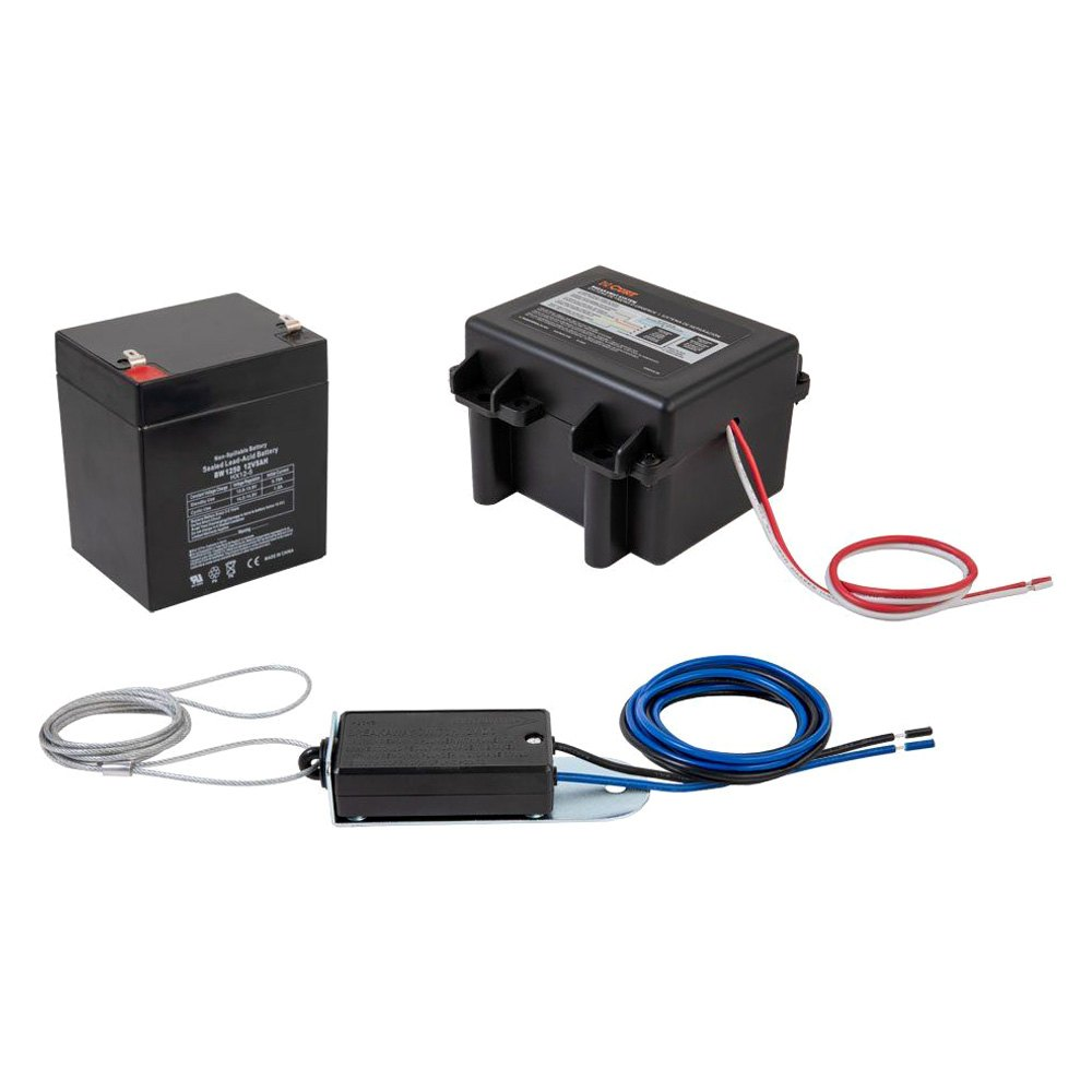 Trailer Breakaway Kits Stop The If It Breaks Loose Brake Battery Wiring Curt 52041 Soft Trac I Lockable System W O Charger