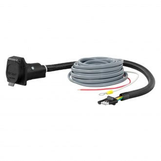 CURT® - 4-Way Flat Electrical Adapter with Brake Control Wiring