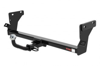 "CURT® 110062 - Class 1 Concealed Black Trailer Hitch with Receiver Opening (With Euro Insert With 2"" Ball, 2000/200 Weight Capacity)"