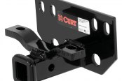 CURT® - Class 1 Concealed Black Rear Trailer Hitch with Receiver Opening