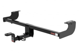 CURT® 114873 - Class 1 Concealed Black Trailer Hitch with Receiver Opening (With Standard Ball Mount Insert, 2000/200 Weight Capacity)