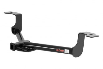 CURT® 11496 - Class 1 Exposed Round Black Trailer Hitch with Receiver Opening (W/O Insert, 2001/200 Weight Capacity)