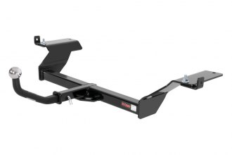 "CURT® 120442 - Class 2 Exposed Black Trailer Hitch with Receiver Opening (With Euro Insert With 2"" Ball, 3500/350 Weight Capacity)"