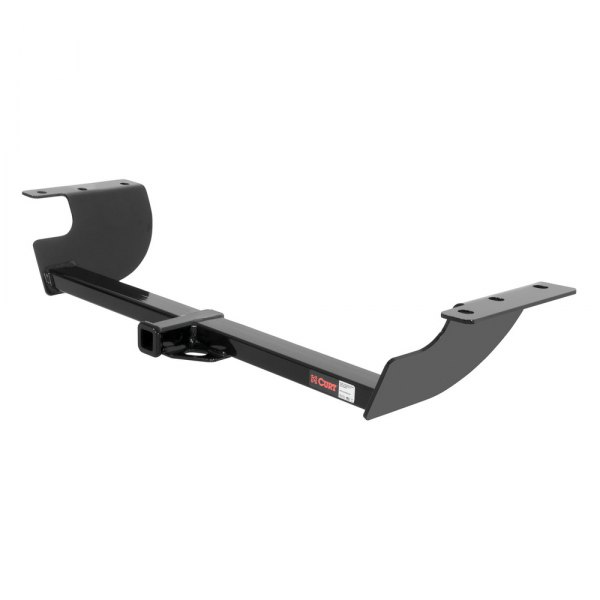 CURT® - Class 2 Exposed Black Rear Trailer Hitch with Receiver Opening