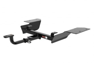 CURT® 122523 - Class 2 Concealed Black Trailer Hitch with Receiver Opening (With Standard Ball Mount Insert, 3500/300 Weight Capacity)