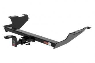 CURT® 124903 - Class 2 Concealed Black Trailer Hitch with Receiver Opening (With Standard Ball Mount Insert, 3500/350 Weight Capacity)