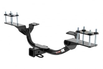 CURT® 13102 - Class 3 Exposed Round Black Trailer Hitch with Receiver Opening (3500/350 Weight Capacity)