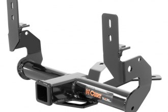 CURT® 13136 - Class 3 Exposed Round Black Trailer Hitch with Receiver Opening (5000/750 Weight Capacity)