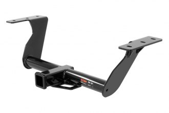 CURT® 13144 - Class 3 Exposed Round Black Trailer Hitch with Receiver Opening (3500/525 Weight Capacity)