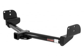 CURT® 13550 - Class 3 Exposed Round Black Trailer Hitch with Receiver Opening (5000/500 Weight Capacity)