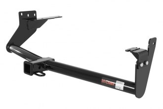 CURT® 13554 - Class 3 Exposed Round Black Trailer Hitch with Receiver Opening (4000/400 Weight Capacity)