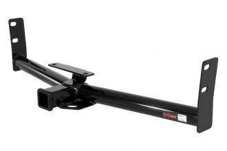 CURT® 13591 - Class 3 Exposed Round Black Trailer Hitch with Receiver Opening (3500/350 Weight Capacity)