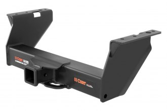 CURT® - Class 5 Commercial Duty Exposed Black Trailer Hitch with Receiver Opening