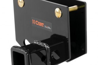 "CURT® 19101 - Square Bumper Trailer Hitch with 2"" Receiver Opening for 2"" x 4"" Channel Bumpers (With Hardware, 3500 lbs GTW / 350 lbs GTW)"