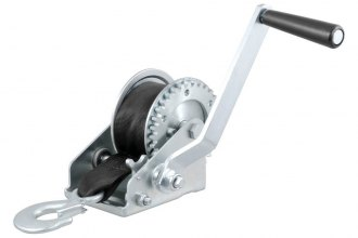 CURT® - Hand Winch with Strap and Zinc-Plated Snap Hook