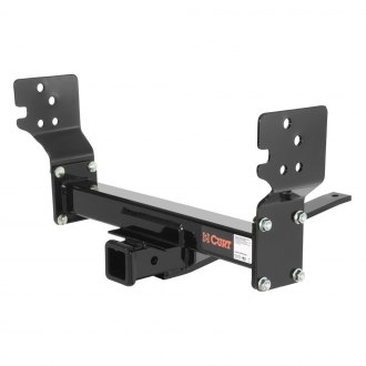 CURT® - Class 3 Concealed Black Front Trailer Hitch with Receiver Opening (5000/500 Weight Capacity)