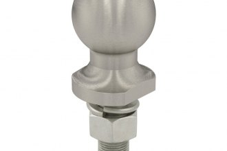 "CURT® - 1-7/8"" Stainless Trailer Hitch Ball (2000 lbs GTW Weight Capacity, 2-1/8"" Shank Lenght, 3/4"" Shank Diameter, 0"" Shank Rise)"