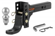 "CURT® - Adjustable 6-3/4"" Drop Dual-Length Ball Mount for 2"" Receivers"