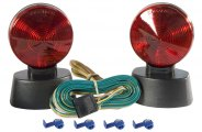 CURT® - Brake and Turn Signals Tail Light with 20' Cord with 4-Way Flat Plug