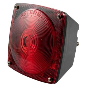 CURT® - Combination Light, without License Illuminator-Left Side Red with License Plate Illuminator