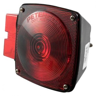 CURT® - Submersible Combo Light, with License Illuminator-Left Side Red with License Plate Illuminator