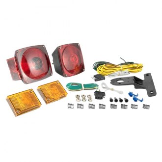 CURT® - Trailer Light Kit Metallic Base Includes 20 ft. Wiring Harness