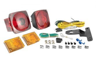 CURT® - Trailer Light Kit Metallic Base with 20' Wiring Harness