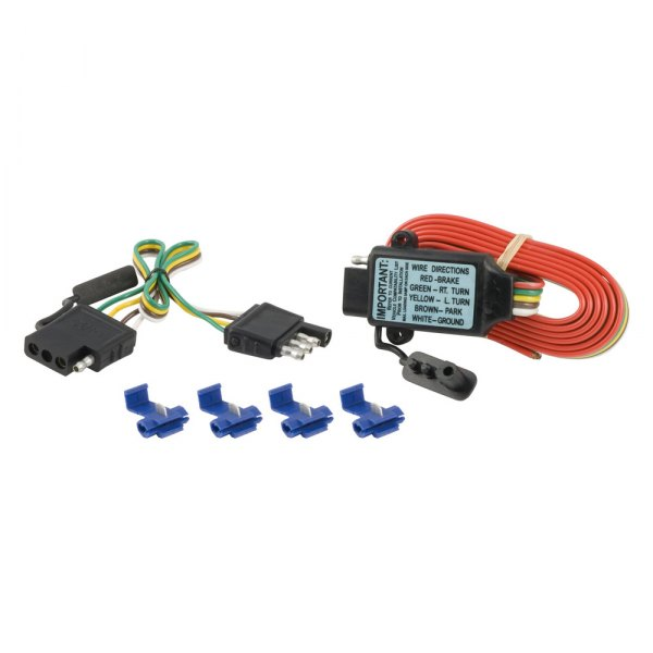 "CURT® - Tail Light Converter 3-wire Systems to 2-wire Systems (With Splice Input  10 Amp and 38"" Extender Kit)"