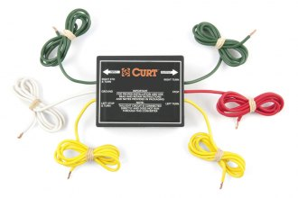 CURT® - 2-wire System to 3-wire System Tail Light Converter Kit (2.1 Amp Turn/Brake, 5 Amp Taillight with Wiring Kit)