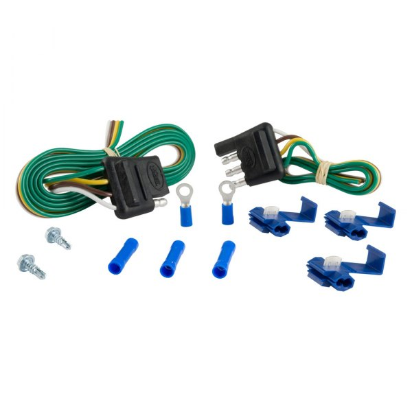 CURT® - 4-Way Flat Wiring Connector with Hardware