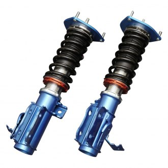 "Cusco® - 0""-2.4"" x 0""-1.6"" Street Zero-A Red Front and Rear Lowering Coilover Kit"