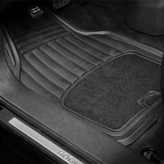Custom Accessories® - Armor All™ Carpet/Rubber Interior Floor Mats Set