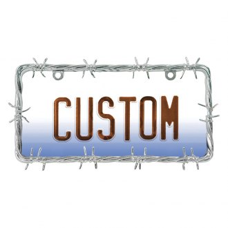 Custom Accessories® - Custom Frames™ Barbed Wire Chrome License Plate Frame