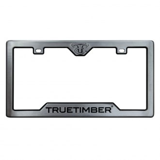 Custom Accessories® - TrueTimber™ Gray License Plate Frame with Black TrueTimber Logo and Cut-Out