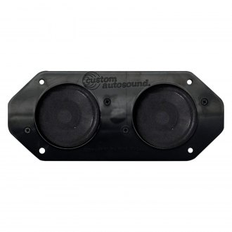 "Custom Autosound® - 4"" X 10"" Dual Dash Mount 3-1/2"" 80W Speakers"