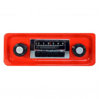 Custom Autosound® - AM/FM Slidebar Receiver with iPod Docking Cable and Hidden Digital Display
