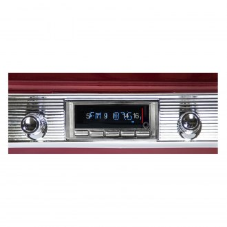 Custom Autosound® - USA-740 Classic Car AM/FM Receiver with USB Port, CD Changer Control and Built-In Bluetooth