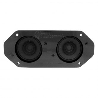 "Custom Autosound® - 4"" X 10"" Dual Dash Mount 3-1/2"" Speaker"