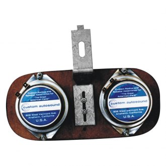 "Custom Autosound® - 4"" X 10"" Dual Dash Mount 4"" Speaker"