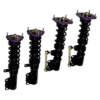 "D2 Racing® - 0""-2"" x 0""-2"" RS Series Front and Rear Lowering Coilover Kit"