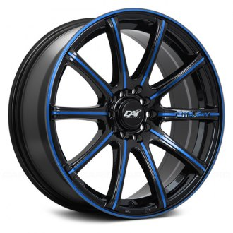 DAI ALLOYS® - DW78 A-TEAM Gloss Black with Blue Accents