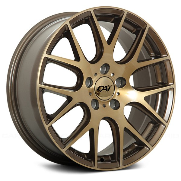 Dai Alloys Autobahn Wheels Dark Bronze With Brushed Face And