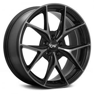 DAI ALLOYS® - ELEGANTE Gloss Black with Machined Face and Smoked Clear