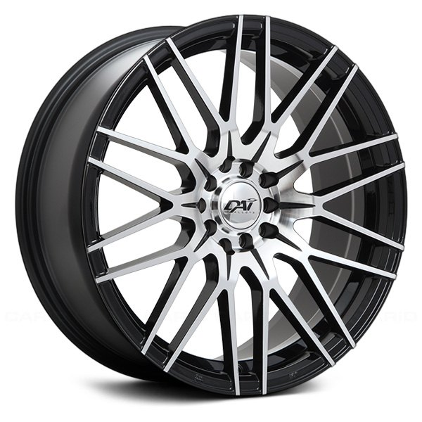 DAI ALLOYS DW60 REBEL Wheels Gloss Black With Machined Face Rims Inspiration 5x105 Bolt Pattern