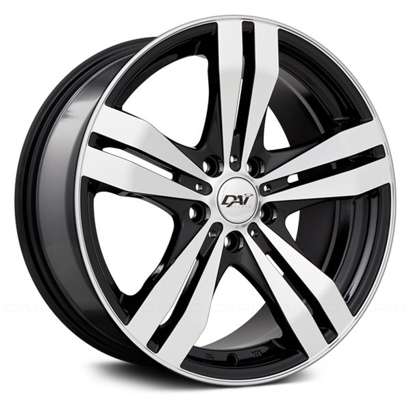 DAI ALLOYS DW60 TARGET Wheels Gloss Black With Machined Face Rims Simple 5x108 Bolt Pattern