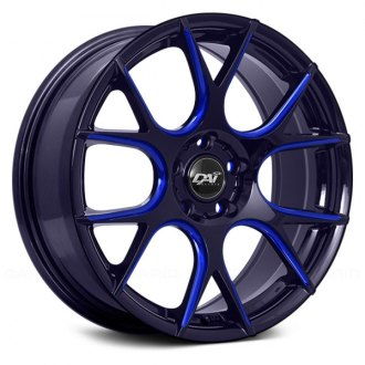 DAI ALLOYS® - VENOM Gloss Black with Blue Milled Accents