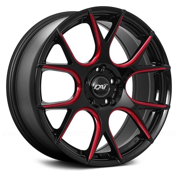 dai alloys venom wheels gloss black with red milled accents rims. Black Bedroom Furniture Sets. Home Design Ideas