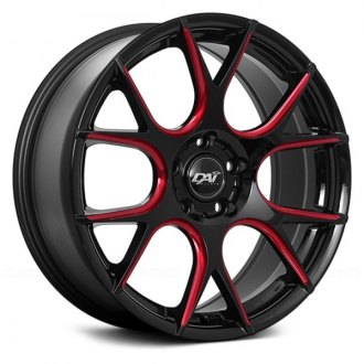 DAI ALLOYS® - DW91 VENOM Gloss Black with Red Milled Accents